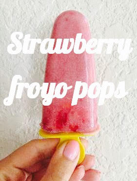 Strawberry FROYO POPS